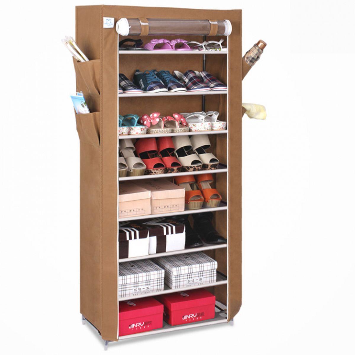 Тканевый шкаф для обуви и аксессуаров Homsu Элис, цвет: коричневый, 60 x 30 x 136 смES-412Этот шкаф предназначен для комфортного, практичного и удобного хранения обуви и других предметов в вашем доме.Выполненный в коричневом цвете, такой шкаф вполне может стать полноценным дополнением к вашей уютной домашней обстановке. 8 полок для обуви, шириной 60 см и глубиной 30 см плюс боковые кармашки для тапочек, зонтов и всяких мелочей надолго обеспечат полный порядок в прихожей. Фактический цвет может отличаться от заявленного.