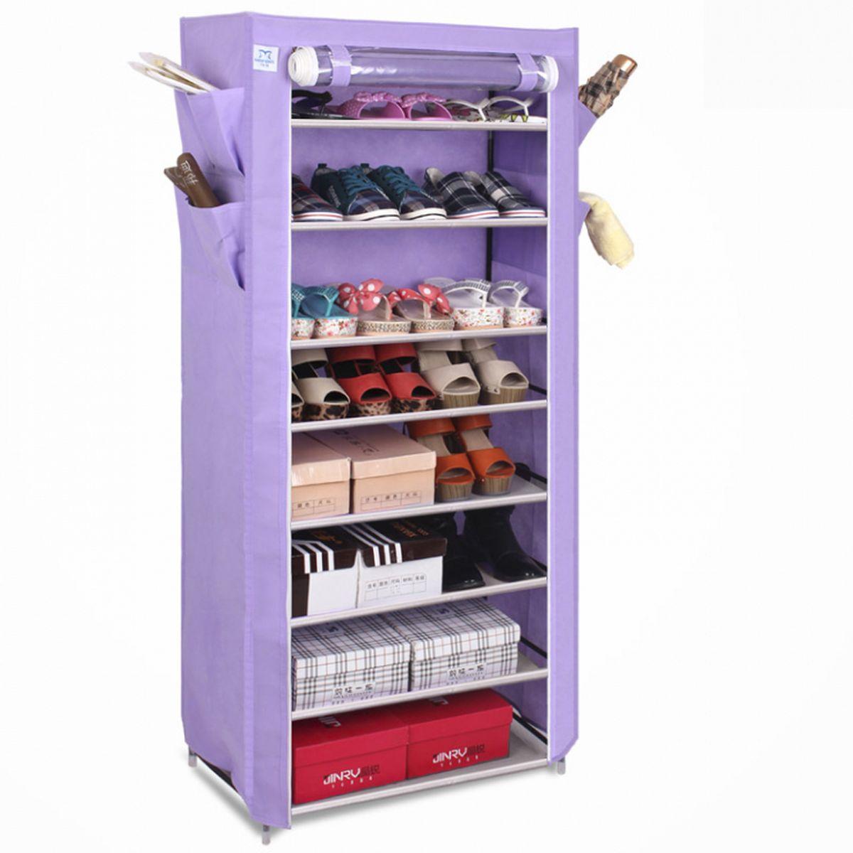 Шкаф для обуви и аксессуаров Homsu Элис, 8 полок, 60 x 30 x 136 см41619Шкаф для обуви и аксессуаров Homsu Элис выполнен из текстиля. Этот шкаф предназначен для комфортного, практичного и удобного хранения обуви и других предметов в вашем доме. Такой шкаф вполне может стать полноценным дополнением к вашей уютной домашней обстановке. Изделие имеет боковые кармашки для тапочек, зонтов и всяких мелочей и 8 полок для обуви шириной 60 см и глубиной 30 см.