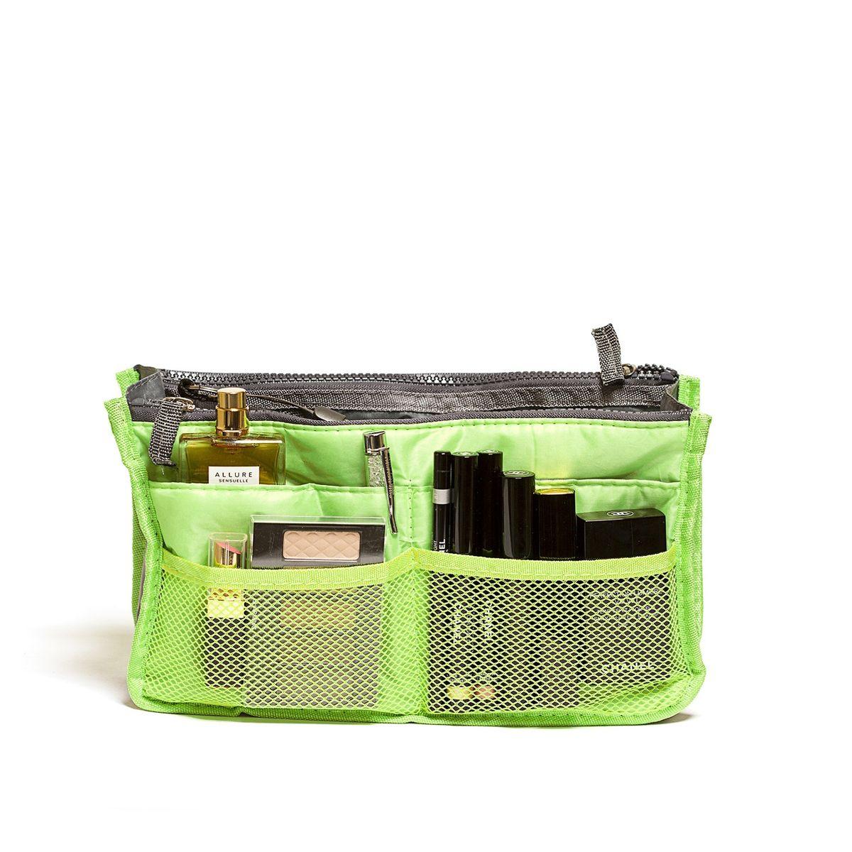Органайзер для сумки Homsu, цвет: светло-зеленый, 30 x 8,5 x 18,5 смS03301004Органайзер для сумки Homsu выполнен из полиэстера и текстиля. Этот органайзер для сумки имеет три вместительных отделениях для вещей, четыре кармашка по бокам и шесть кармашков в виде сетки. Такой органайзер обеспечит полный порядок в вашей сумке. Данный аксессуар обладает быстрой регулировкой толщины с помощью кнопок. Органайзер оснащен двумя крепкими ручками, что позволяет применять его и вне сумки.