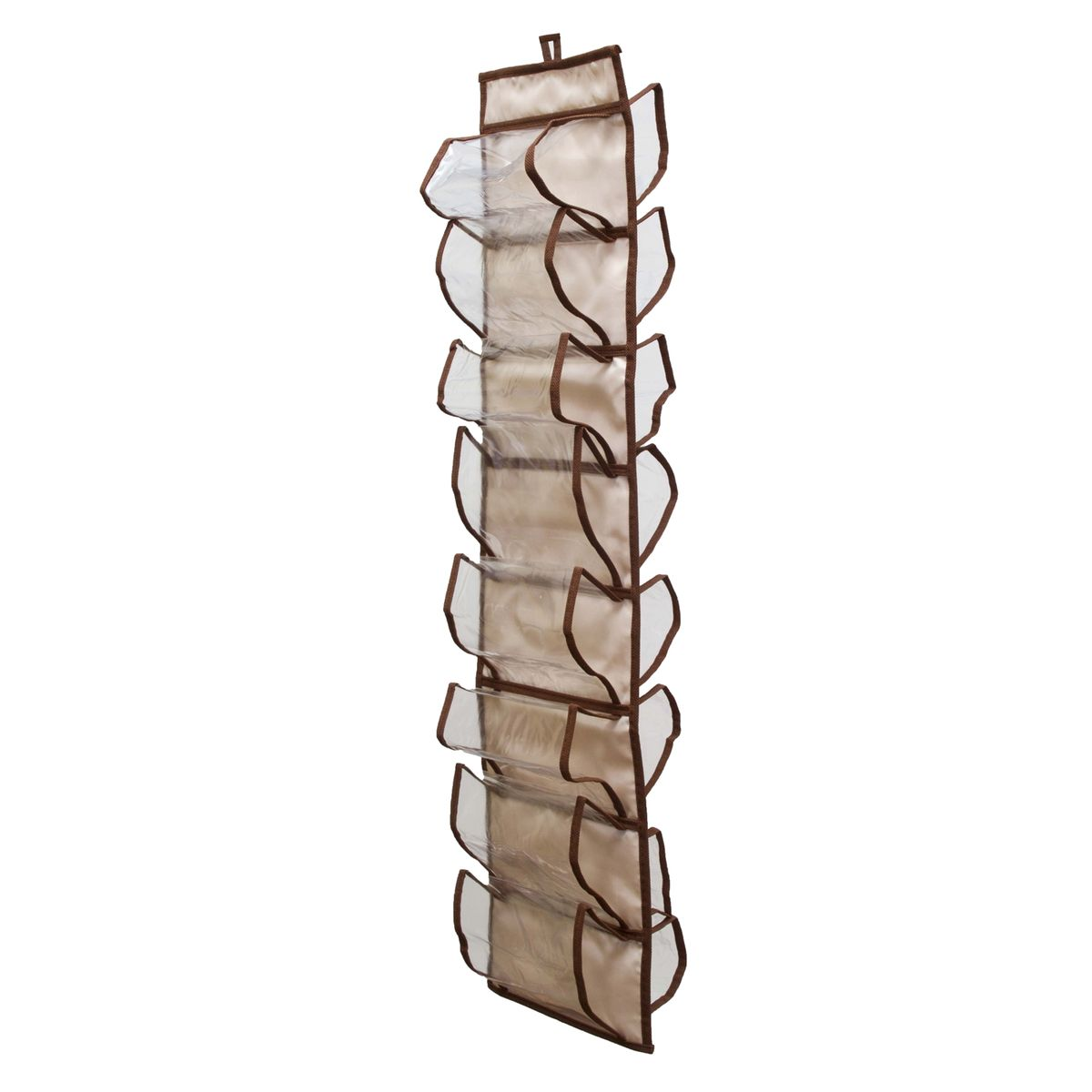 Органайзер для хранения шарфов и мелочей Homsu Bora-Bora, подвесной, 20 х 80 смU210DFПодвесной двусторонний органайзер для хранения Homsu Bora-Bora изготовлен из высококачественного нетканого материала (полиэстер). Изделие позволяет сохранить естественную вентиляцию, а воздуху свободно проникать внутрь, не пропуская пыль. Органайзер оснащен 16 раздельными секциями. Идеально подходит для хранения разных мелочей в шкафу. Мобильность конструкции обеспечивает складывание и раскладывание одним движением. Размер органайзера: 20 х 80 см.