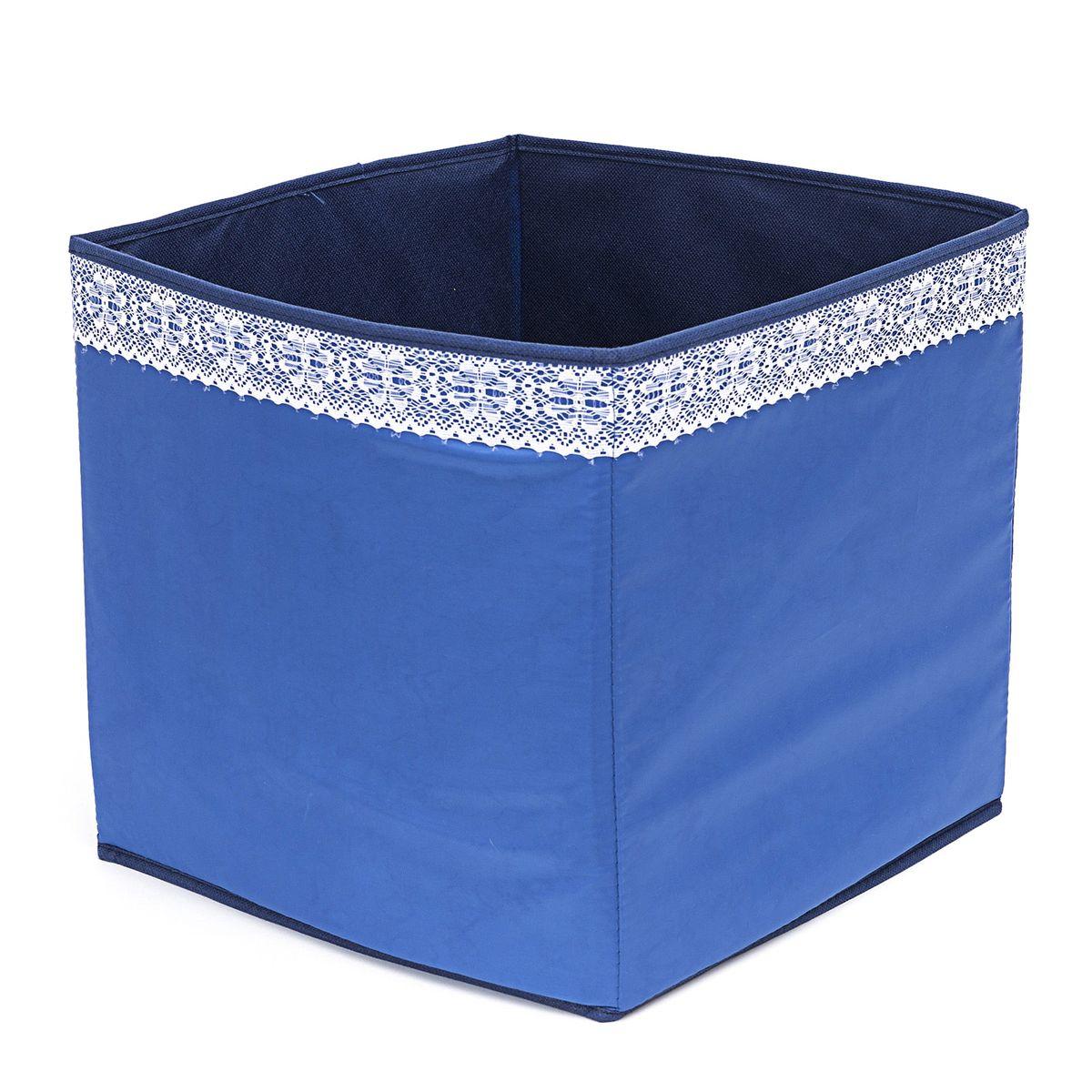 Кофр для хранения Homsu Winter, 32 х 32 х 32 смWHHH10-338Кофр для хранения Homsu Winter изготовлен из высококачественного нетканого полотна и декорирован вставкой из кружева. Кофр имеет одно большое отделение, где вы можете хранить различные бытовые вещи, нижнее белье, одежду и многое другое. Вставки из картона обеспечивают прочность конструкции. Стильный принт, модный цвет и качество исполнения сделают такой кофр незаменимым для хранения ваших вещей.