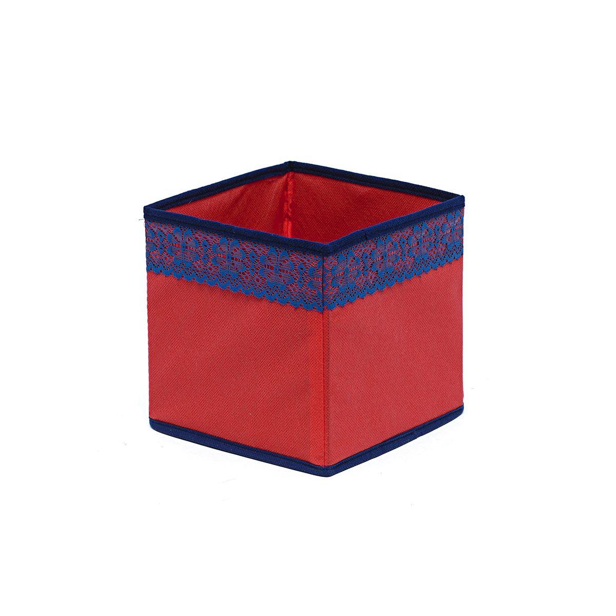 Кофр для хранения Homsu Rosso, 17 х 17 х 17 смRG-D31SКофр для хранения Homsu Rosso изготовлен из высококачественного нетканого полотна и декорирован красочным изображением. Кофр имеет одно большое отделение, где вы можете хранить различные бытовые вещи, нижнее белье, одежду и многое другое. Вставки из картона обеспечивают прочность конструкции. Стильный принт, модный цвет и качество исполнения сделают такой кофр незаменимым для хранения ваших вещей.