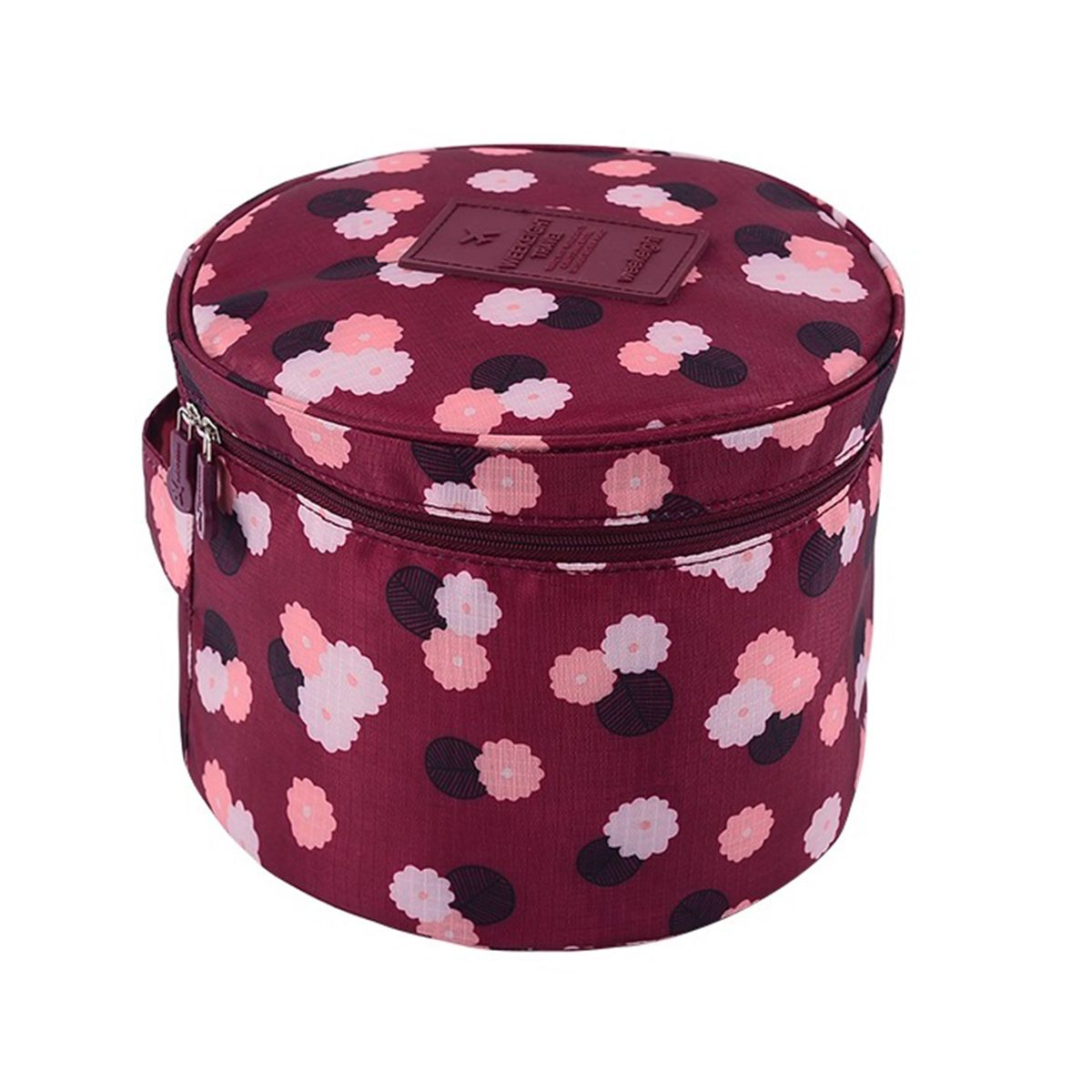 Органайзер для хранения Homsu Цветок, цвет: бордовый, белый, розовый, 19 x 19 x 14 смS03301004Органайзер для хранения Homsu Цветок выполнен из высококачественного полиэстера. Изделие круглой формы имеет множество карманов внутри, что позволяет удобно организовать хранение косметики, и других мелких предметов. Органайзер обладает высоким качеством материала и стильным дизайном. Сверху органайзера имеется ручка для переноски.