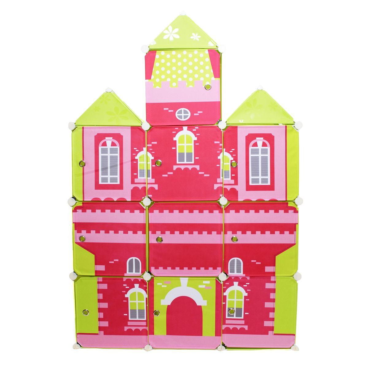 Шкаф детский модульный Homsu Домик, 111 x 39 x 163 смВН 276 БСДетский модульный шкаф Homsu Домик выполнен из пластика и металла. Приучить детей к порядку легко, если им нужно будет складывать вещи в яркий разноцветный домик. Детский модульный шкаф - это отличная система для хранения детских вещей. Он представляет собой несколько сборных модульных кубов, с дверцами, которые легко собираются в веселый домик красного цвета с желтыми башенками. В шкаф можно складывать игрушки, одежду и прочие детские вещи. Размер: 111 х 39 х 163 см.