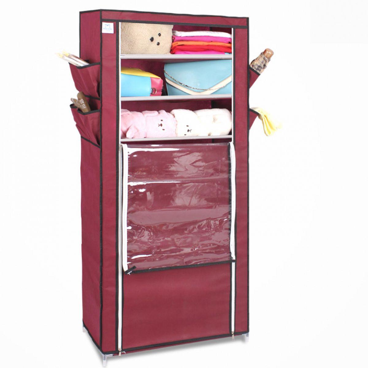 Тканевый шкаф для обуви и аксессуаров Homsu Элис, цвет: бордовый, 60 x 30 x 136 смWHHH10-382Этот шкаф предназначен для комфортного, практичного и удобного хранения обуви и других предметов в вашем доме.Выполненный в бордовом цвете, такой шкаф вполне может стать полноценным дополнением к вашей уютной домашней обстановке. 8 полок для обуви, шириной 60 см и глубиной 30 см плюс боковые кармашки для тапочек, зонтов и всяких мелочей надолго обеспечат полный порядок в прихожей. Фактический цвет может отличаться от заявленного.