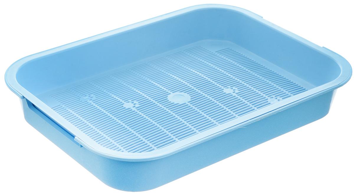 Туалет для кошек Каскад, с сеткой, цвет: голубой, 38 х 28 х 6 см0120710Туалет для кошек Каскад изготовлен из высококачественного цветного пластика со съемной сеткой. Туалет с сеткой может использоваться как с наполнителем, так и без него. Это самый экономичный и простой в употреблении предмет обихода для кошек и котов.Туалет легко моется водой.