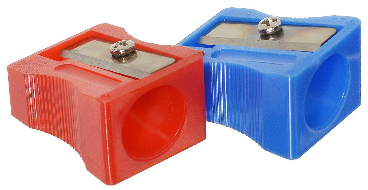Action! Точилка цвет красный синий 2 штFS-36052Точилка Action! предназначена для затачивания классических простых и цветных утолщенных карандашей.В наборе две точилки из прочного пластика с рифленой областью захвата. Острые лезвия обеспечивают высококачественную и точную заточку деревянных карандашей.