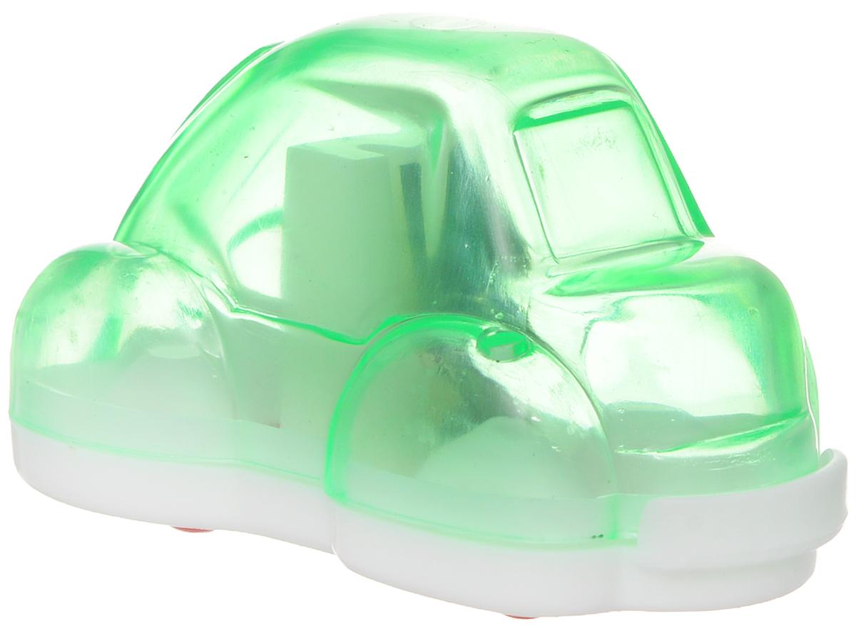 Action! Точилка Авто цвет зеленый2010440Точилка Action! Авто предназначена для заточки чернографитных и цветных карандашей.Точилка изготовленная из пластика, с одним отверстием и контейнером. Полупрозрачный контейнер для сбора стружки повышенной вместимости позволяет визуально контролировать уровень заполнения и вовремя производить очистку.Для увеличения срока службы точилки производите ее очистку после каждой заточки карандаша.
