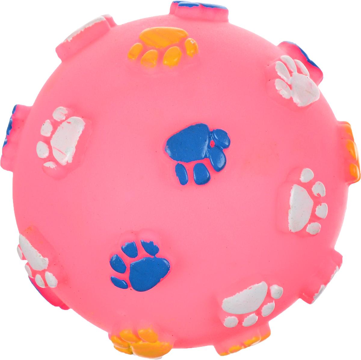 Игрушка для животных Каскад Мяч. Лапки, с пищалкой, цвет: розовый, синий, желтый, диаметр 9 см0120710Игрушка Каскад Мяч. Лапки изготовлена из прочной и долговечной резины, которая устойчива к разгрызанию. Необычная и забавная игрушка прекрасно подойдет для собак, любящих игрушки с пищалками. Диаметр: 9 см.