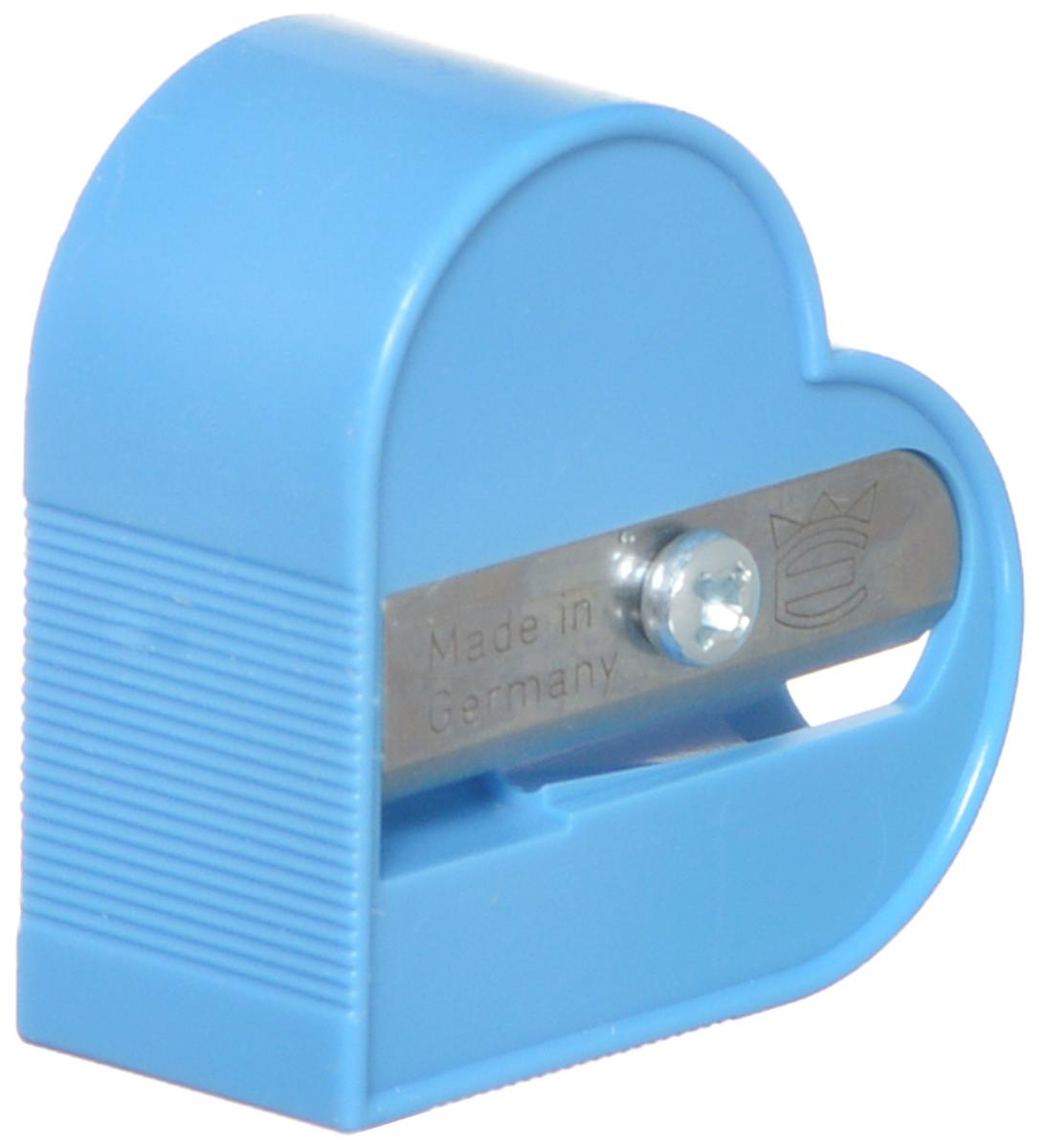 Eisen Точилка Сердце цвет голубойFS-36052Точилка Eisen Сердце предназначена для затачивания классических простых и цветных карандашей.Точилка изготовлена из качественного материала и имеет рельефную область захвата. Острые лезвия обеспечивают высококачественную и точную заточку карандашей.