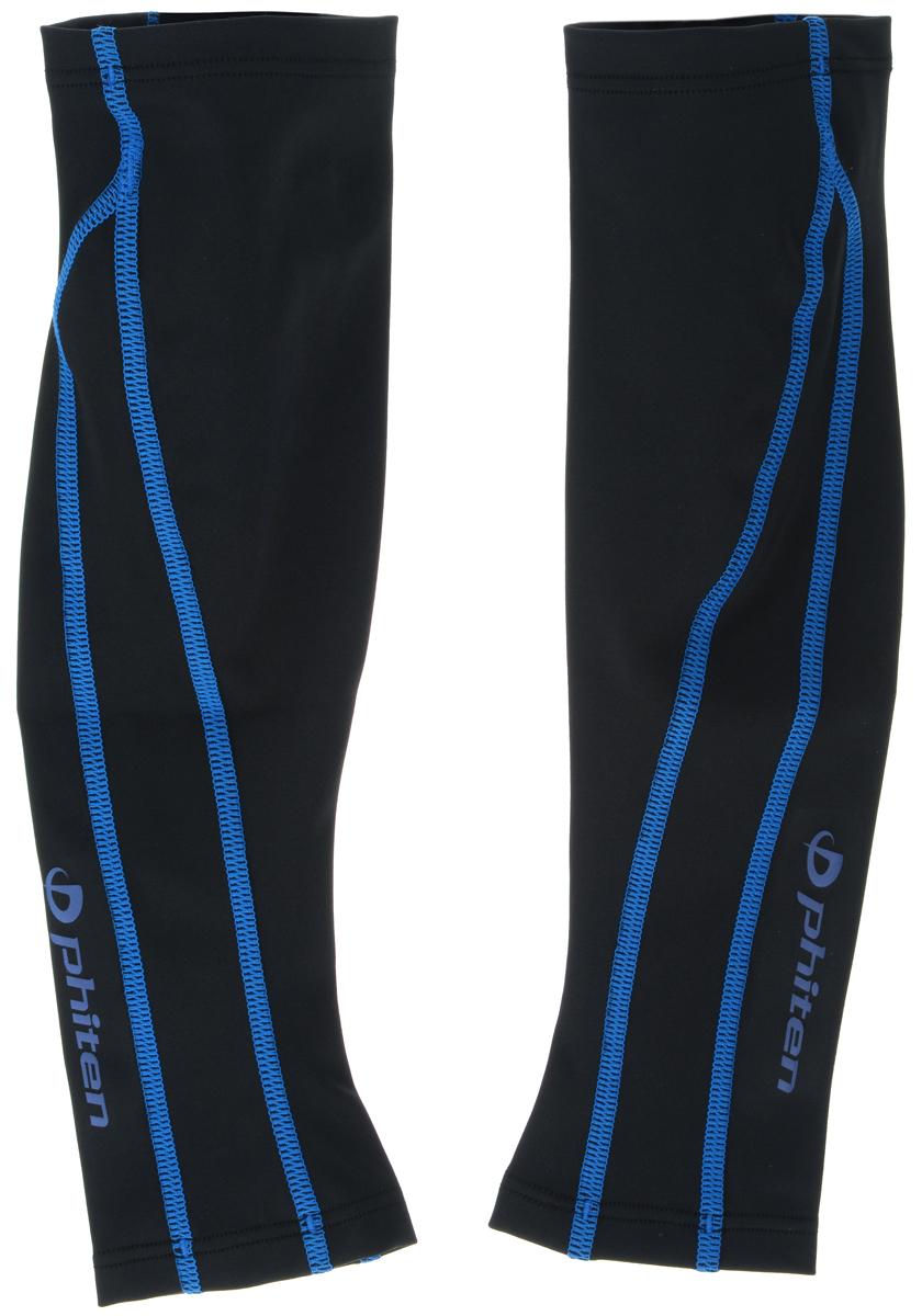 """Гетры силовые Phiten """"X30"""", цвет: черный, синий. Размер L (36-43 см)"""