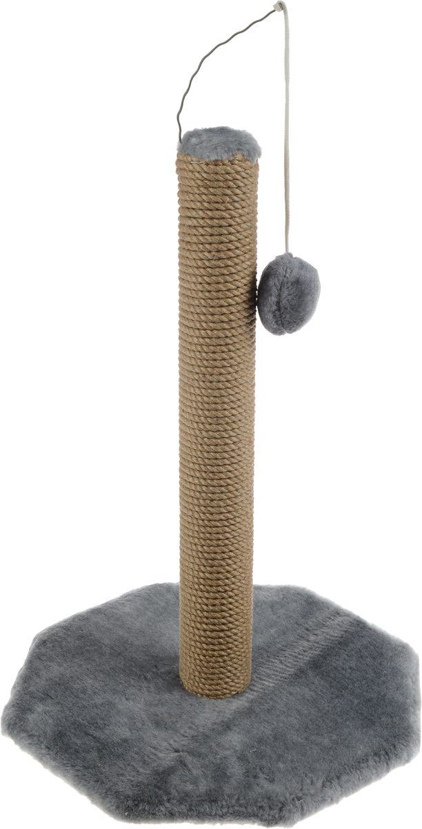Когтеточка Меридиан, на подставке, с игрушкой, цвет: светло-серый, бежевый, высота 52 см0120710Когтеточка Меридиан поможет сохранить мебель и ковры в доме от когтей вашего любимца, стремящегося удовлетворить свою естественную потребность точить когти. Когтеточка изготовлена из дерева, искусственного меха и джута. Товар продуман в мельчайших деталях и, несомненно, понравится вашей кошке. Сверху имеется висячая игрушка, которая привлечет питомца.Всем кошкам необходимо стачивать когти. Когтеточка - один из самых необходимых аксессуаров для кошки. Для приучения к когтеточке можно натереть ее сухой валерьянкой или кошачьей мятой. Когтеточка поможет вашему любимцу стачивать когти и при этом не портить вашу мебель.Размер основания: 36 х 36 см.Высота когтеточки: 52 см.