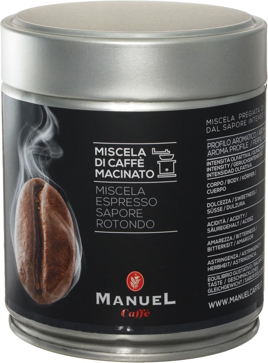 Manuel Capriccio кофе молотый, 125 г (ж/б)0120710Manuel Capriccio - лучшая смесь для приготовления кофе на профессиональном оборудовании. Manuel Capriccio - бодрящий продукт, прошедший темную обжарку, в результате которой в его вкусе появились нюансы какао и пикантная горчинка. Этот кофе будет идеальной основой для создания эспрессо и капучино.