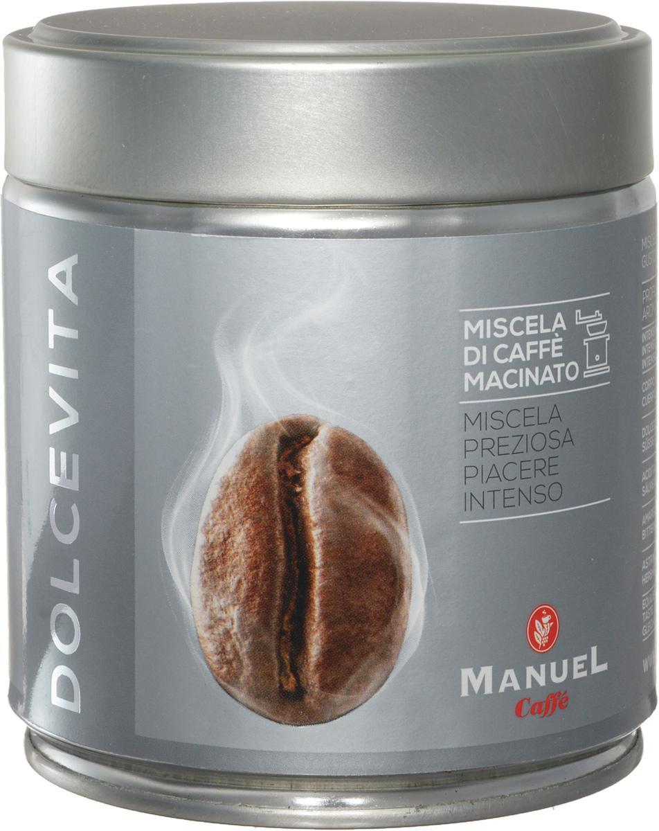 Manuel Dolce Vita кофе молотый, 125 г (ж/б)635Ароматная смесь Manuel Dolce Vita с приятным сбалансированным вкусом.