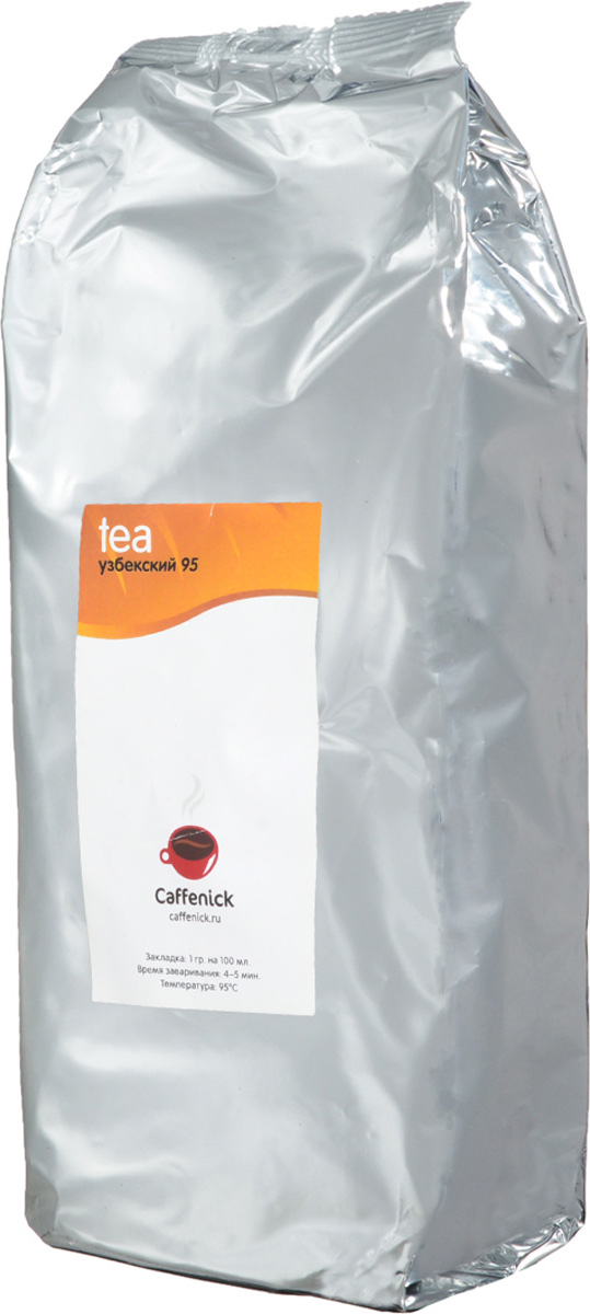 Caffenick Узбекский №95 зеленый листовой чай, 500 г4610001573098Caffenick Узбекский №95- один из самых ценных сортов зеленого чая. Обладает тонким ароматом, прекрасным нежным вкусом. Заваривается 2-4 раза. Перед каждым доливом воды рекомендуется делать паузу 2 мин.