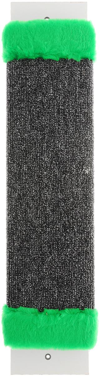Когтеточка ЗооМарк, настенная, цвет: темно-серый, зеленый, 57 х 12 х 3,5 см106-1_бежевыйНастенная когтеточка ЗооМарк предназначена для стачивания когтей вашей кошки и предотвращения их врастания. Волокна ковролина обеспечивают естественный уход за когтями питомца. Когтеточка позволяет сохранить неповрежденными мебель и другие предметы интерьера.Длина когтеточки: 57 см.Длина рабочей части: 48 см.