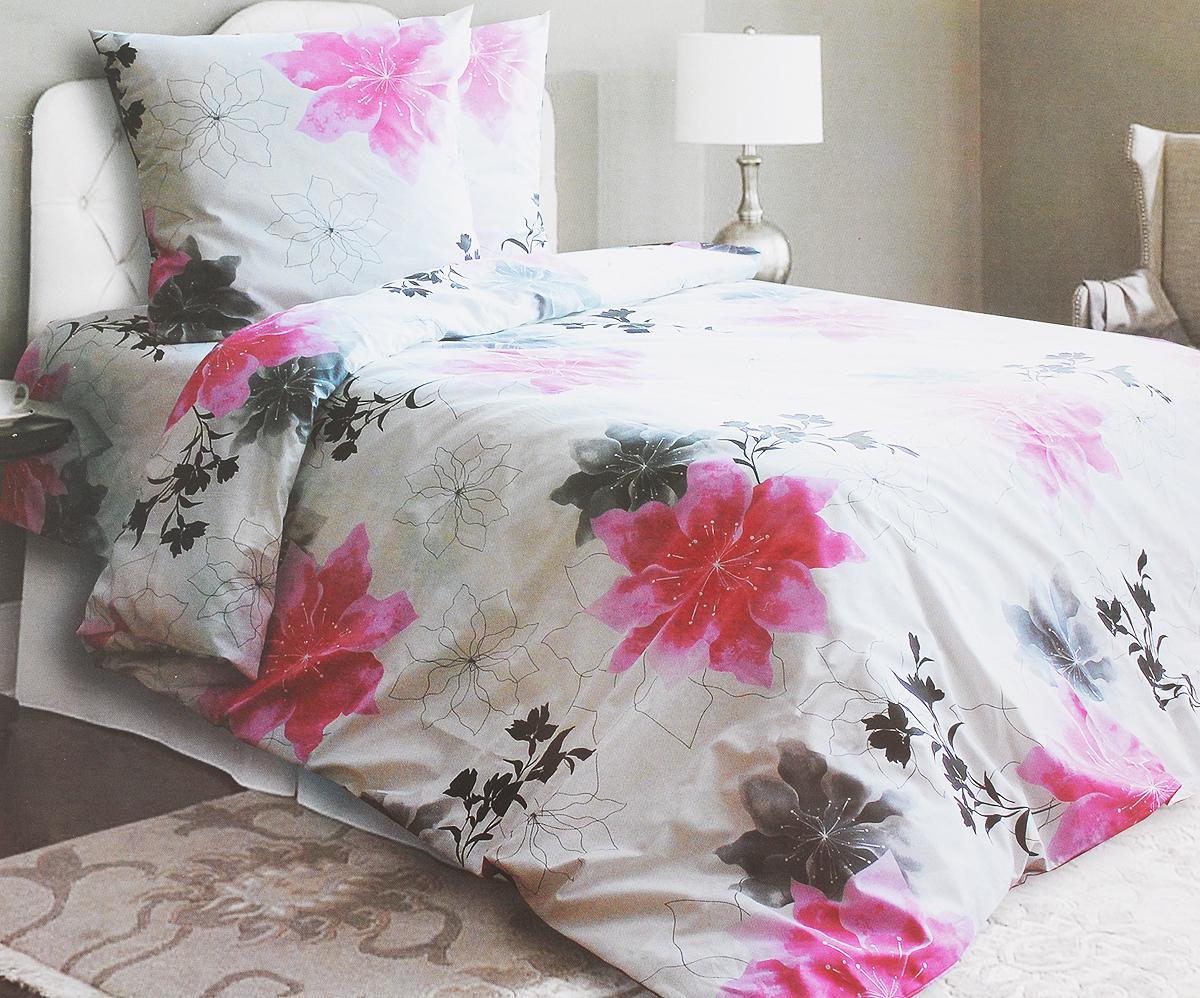 Комплект белья Катюша Аманда, евро, наволочки 50х70, цвет: белый, розовый, черный06008A7602Комплект постельного белья Катюша Аманда является экологически безопасным для всей семьи, так как выполнен из бязи (100% хлопок). Комплект состоит из пододеяльника, простыни и двух наволочек. Постельное белье оформлено оригинальным рисунком и имеет изысканный внешний вид.Бязь - это ткань полотняного переплетения, изготовленная из экологически чистого и натурального 100% хлопка. Она прочная, мягкая, обладает низкой сминаемостью, легко стирается и хорошо гладится. Бязь прекрасно пропускает воздух и за ней легко ухаживать. При соблюдении рекомендуемых условий стирки, сушки и глажения ткань имеет усадку по ГОСТу, сохранятся яркость текстильных рисунков. Приобретая комплект постельного белья Катюша Аманда, вы можете быть уверенны в том, что покупка доставит вам и вашим близким удовольствие иподарит максимальный комфорт.