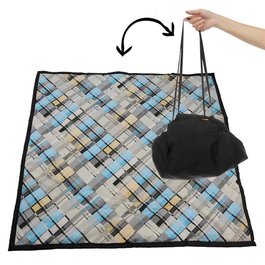 Чудо-Чадо Переносной коврик-сумка цвет черный клетка