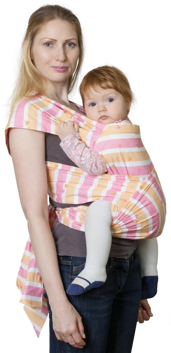Чудо-Чадо Май-слинг Детство цвет сердечки розовый - Рюкзаки, слинги, кенгуру