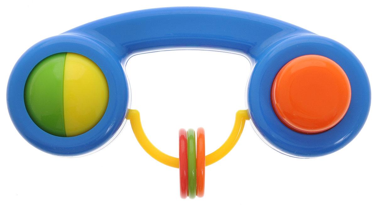 Малышарики Погремушка Телефон цвет синий погремушка малышарики карусель