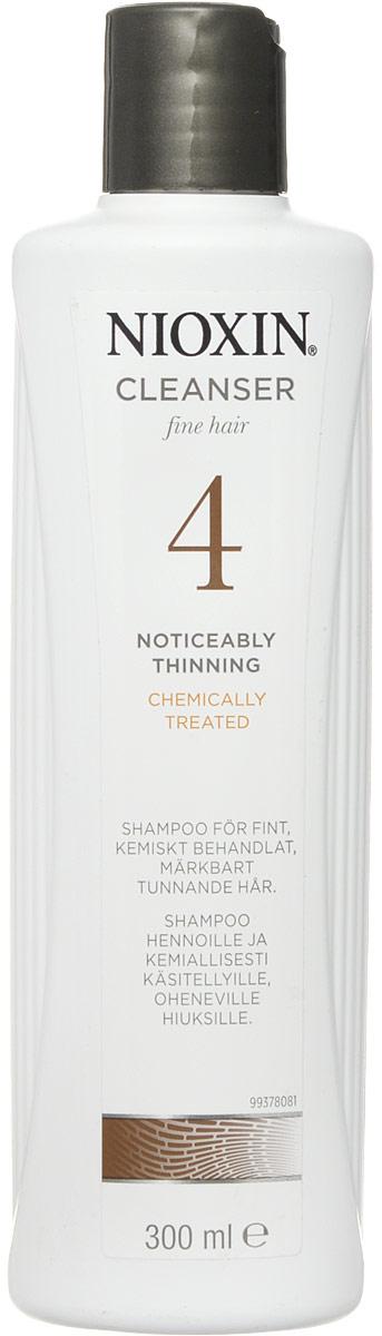 Nioxin Cleanser Очищающий шампунь (Система 4) System 4, 300 мл5263Шампунь очищающий Система 4 Cleanser System 4 Nioxin предназначен для тонких и ослабленных волос, которые были агрессивно окрашены или подверглись химической обработке. Средство нейтрализует остатки химии и защищает волосы от внешнего влияния. Также шампунь от Ниоксин увлажняет кожу головы и заботится об интенсивности цвета окрашенных волос.