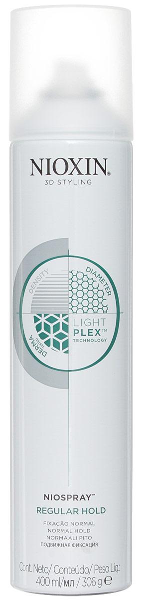 Nioxin 3D Styling Niospray Regular Hold - Лак спрей подвижной фиксации 400 млMP59.4DУльтралёгкий спрей для гибкой управляемой фиксации и создания эффекта объемных, густых волос. Легко удаляется при расчесывании.Технология LightPlex - Для более легких и эластичных волос:Эта профессиональная технология работает как внутри, так и снаружи волоса.Кондиционирующие вещества проникают в кортекс волоса, удерживая необходимую влагу и защищая волосы от внешних воздействий окружающей среды, в то время как невесомые, гибкие полимеры обволакивают волосы для легкости укладки, без жесткой фиксации.Применение: Нанесите на чистые, сухие волосы. С помощью пальцев создайте эффект движения. Распылите лак для фиксации результата.Рекомендуется для тонких и средней текстуры волос.