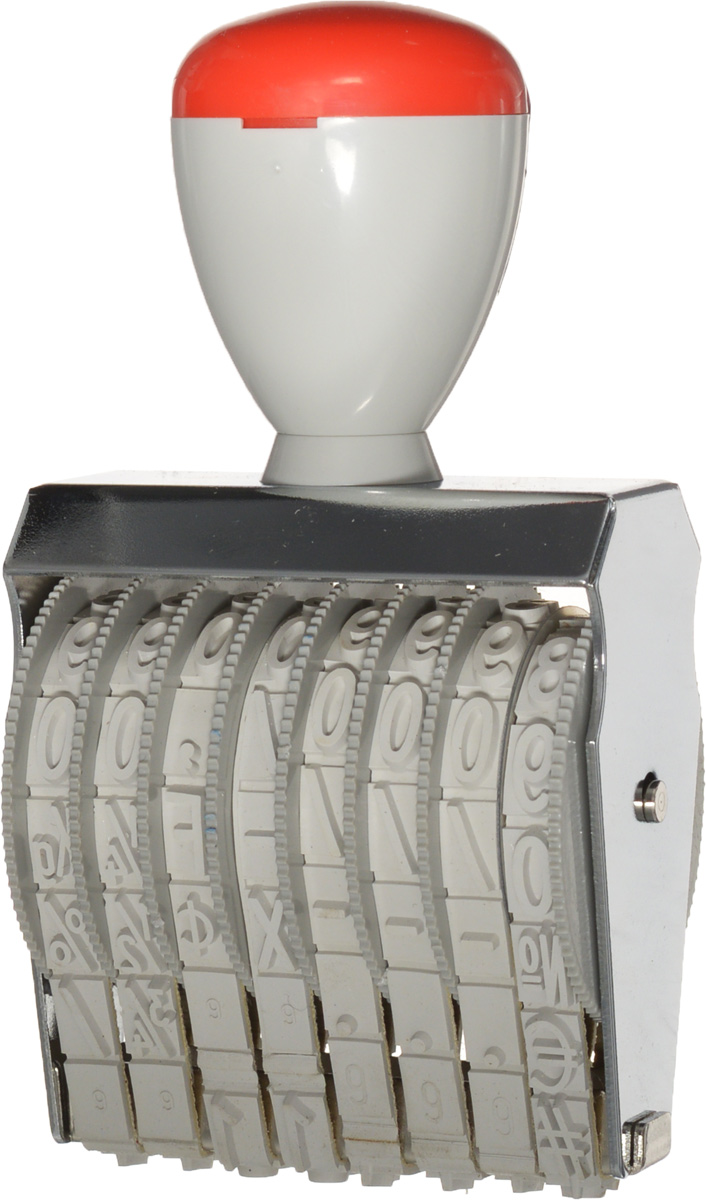 Trodat Нумератор ленточный восьмиразрядный 9 мм4911/DBСамонаборный однострочный восьмиразрядный нумератор Trodat будет незаменим в отделе кадров или в бухгалтерии любой компании. Компактный, но прочный пластиковый корпус гарантирует долговечное бесперебойное использование. Модель отличается высочайшим удобством в использовании и оптимально ложится в руку благодаря эргономичной ручке. Оттиск проставляется практически бесшумно, легким нажатием руки. Улучшенная конструкция и видимая площадь печати гарантируют качество и точность оттиска. Высота шрифта - 9 мм. Trodat - идеальный штамп для ежедневного использования в офисе, гарантирующий получение чистых и четких оттисков. Подходит к самым разным требованиям в повседневной офисной жизни.
