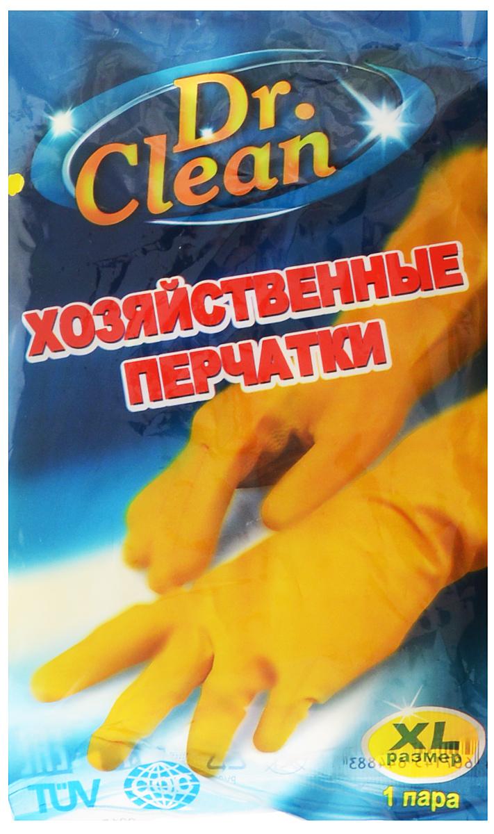 Перчатки хозяйственные Dr. Clean, цвет: желтый. Размер XL4606400105459Универсальные перчатки Dr. Clean произведены из высококачественного латекса, бесшовные, с рифленой поверхностью рабочих частей, которая позволяет удерживать мокрые предметы. Перчатки подходят для различных видовдомашних работ. Перчатки эластичны, хорошо облегают руку.