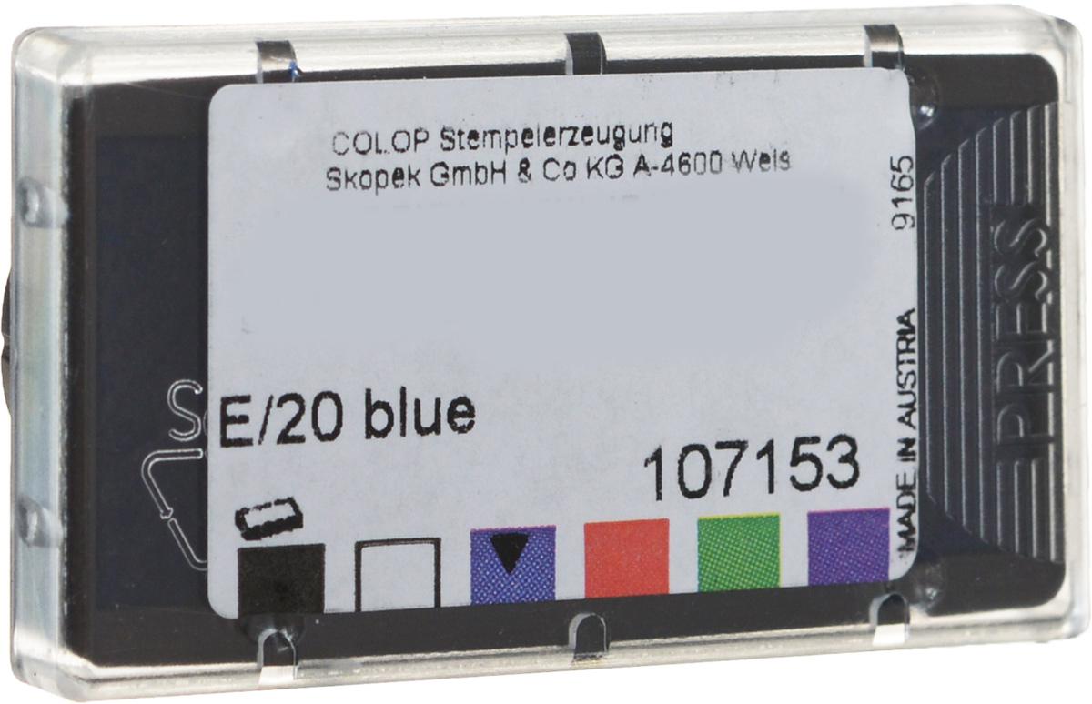 Colop Сменная штемпельная подушка E/20 №2 цвет синийFS-00102Сменная штемпельная подушка Colop E/20 №2 предназначена для продукции Colop. Произведена в Австрии с учетом требований российских и международных стандартов. Замена штемпельной подушки необходима при каждом изменении текста в штампе. Заправка штемпельной краской не рекомендуется. Гарантирует не менее 10 000 четких оттисков. Подходит для кода С26594, С48188, С26421, С26923, С26592, С26924, С26593, С10882, С35569, С48194, С48195, цвет краски - синий.