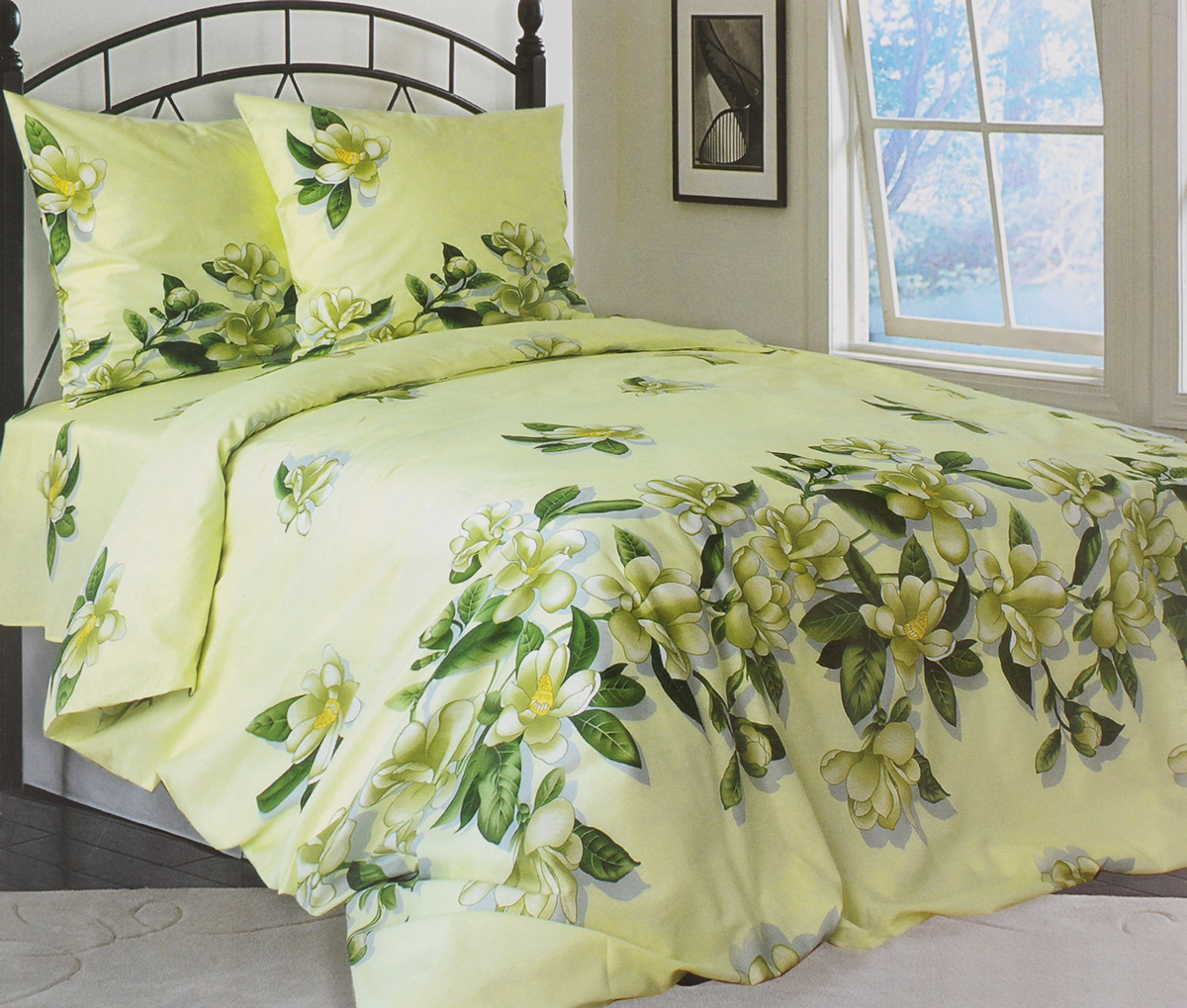 Комплект белья Катюша Юнона, 2-спальный, наволочки 70х70, цвет: зеленый, серый, желтый391602Роскошный комплект белья Катюша Юнона, выполненный из бязи (100% натуральногохлопка), состоит из пододеяльника, простыни и двух наволочек. Постельное белье оформлено изображением цветов и имеет изысканный внешний вид. Бязь - это ткань полотняного переплетения, изготовленная из экологически чистого и натурального 100% хлопка.Она приятная на ощупь, при этом очень прочная, хорошо сохраняет форму и легко гладится. Ткань прекрасно пропускает воздух и за ней легко ухаживать. Приобретая комплект постельного белья Катюша Юнона, вы можете быть уверенны в том, что покупка доставит вам и вашим близким удовольствие и подарит максимальный комфорт.