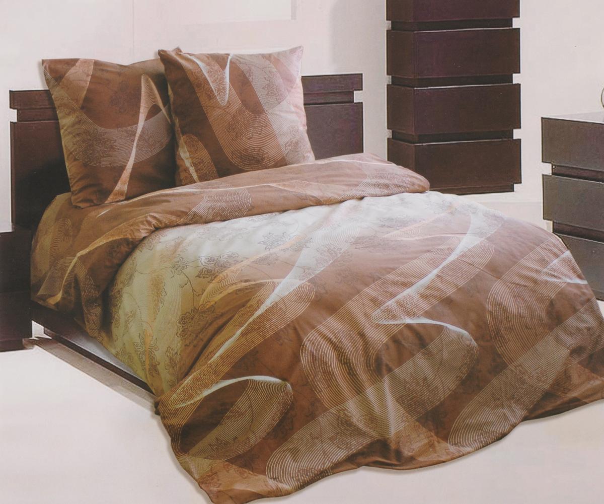 Комплект белья Катюша Люкс, 1,5-спальный, наволочки 70х70, цвет: коричневый, белый, персиковый391602Роскошный комплект белья Катюша Люкс, выполненный из бязи (100% натуральногохлопка), состоит из пододеяльника, простыни и двух наволочек. Постельное белье оформлено оригинальным принтом, а также обладает яркостью и сочностью цвета. Бязь - это ткань полотняного переплетения, изготовленная из экологически чистого и натурального 100% хлопка.Она приятная на ощупь, при этом очень прочная, хорошо сохраняет форму и легко гладится. Ткань прекрасно пропускает воздух и за ней легко ухаживать. Приобретая комплект постельного белья Катюша Люкс, вы можете быть уверенны в том, что покупка доставит вам и вашим близким удовольствие и подарит максимальный комфорт.