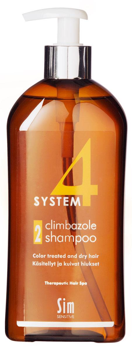SIM SENSITIVE Терапевтический шампунь № 2 SYSTEM 4 Climbazole Shampoo 2, 500 млFS-00897КАК РАБОТАЕТ:салициловая кислота активно очищает кожу головы, предотвращая образование сухой перхоти, а климбазол и пироктон оламин восстанавливают микрофлору кожи головы. Гидролизованные протеины, гидролизованный коллаген, масло подсолнечника ухаживают за сухой кожей головы, поврежденными стержнями волос и продлевают стойкость цвета окрашенных волос. Розмарин и ментол обладают освежающим антибактериальным эффектом, улучшают микроциркуляцию крови. рН-4,7.БОРЕТСЯ С: сухостью кожи головы, зудом, раздражением кожи головы, сухой перхотью, cухостью, ломкостью волос, расслоением стержня волосанепослушностью и поврежденностью волос после окрашивания или химической обработки