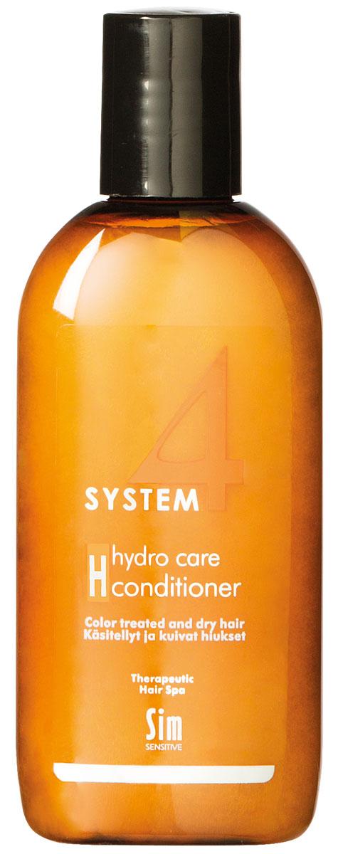 Sim Sensitive Терапевтический бальзам H SYSTEM 4 Hydro Care Conditioner Н, 100 млFS-36054КАК РАБОТАЕТ: комплекс пшеничных и растительных протеинов питает волосы и насыщает влагой сухие и поврежденные волосы. Климбазол и пироктон оламин усиливают и подкрепляют действие терапевтических шампуней «Систем 4». Бальзам улучшает структуру волоса, придает послушность и шелковистость.БОРЕТСЯ С: сухостью волос, непослушностью, спутыванием волосрасслоением стержня волоса поврежденностью и стрессом волос после окрашивания, химической обработки, частого воздействия горячих температур (фен, утюжки)