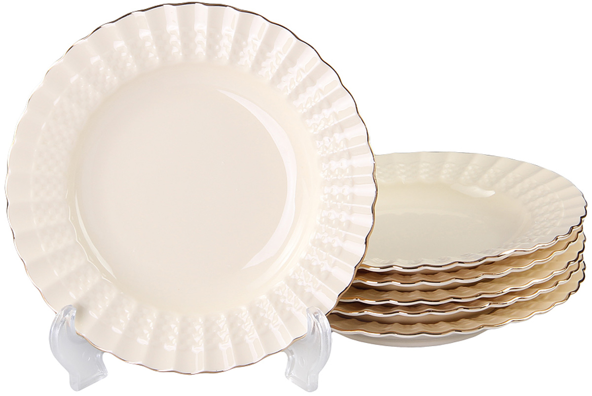Набор глубоких тарелок Patricia Грейс Голд, диаметр 19 см, 6 шт54 009312Набор Patricia состоит из шести глубоких тарелок, выполненных из фарфора высокого качества и украшенных позолотой. Благодаря безукоризненному дизайну и качеству эти тарелки прослужат вам много лет. Не рекомендуется мыть в посудомоечной машине и использовать в микроволновой печи.