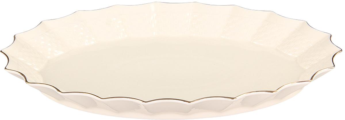 Блюдо Patricia Грейс Голд, диаметр 30 см115510Оригинальное блюдо Patricia Грейс Голд - прекрасное дополнение праздничного стола. Изделие, выполненное из высококачественного фарфора, предназначено для подачи горячих блюд и гарниров. Благодаря нетривиальному дизайну изделие несет не только функциональную, но и эстетическую нагрузку.