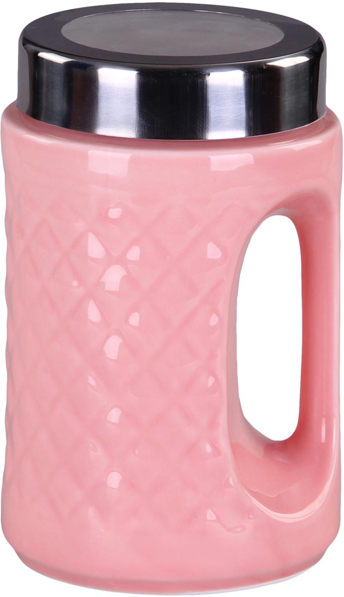 Банка для сыпучих продуктов Patricia. IM99-5236VT-1520(SR)Банка для сыпучих продуктов Patricia с ручкой выполнена из керамики высокого качества. В ней можно хранить как соль или сахар, так и различные крупы.