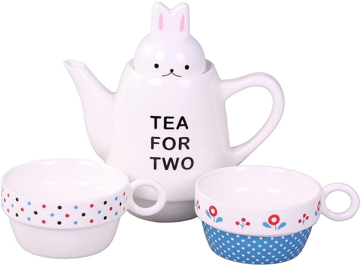 Набор чайный Patricia, 500 мл, 3 предмета. IM99-0545/4VT-1520(SR)Набор выполнен из керамики высокого качества, состоит из чайника и двух чашек.Такой набор станет прекрасным дополнением любого стола.Объем чайника: 500 мл.