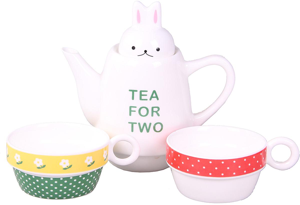 Набор чайный Patricia, 500 мл, 3 предмета. IM99-0545/3115510Набор выполнен из керамики высокого качества, состоящий из чайника и двух чашек.Такой набор станет прекрасным дополнением любого стола.Объем чайника: 500 мл.