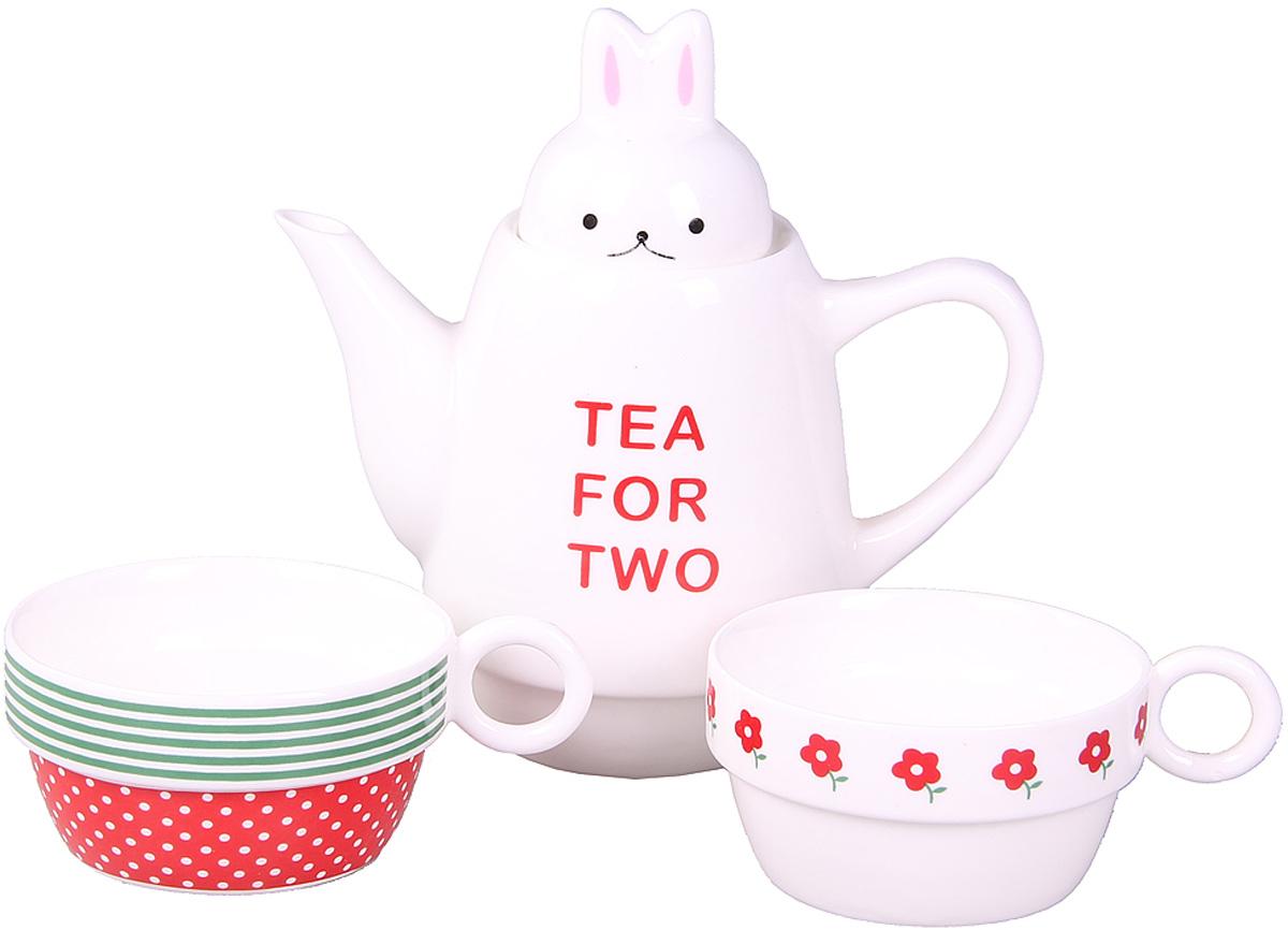Набор чайный Patricia, 500 мл, 3 предмета. IM99-0545/2VT-1520(SR)Набор выполнен из керамики высокого качества. Он состоит из чайника и 2-х чашек. Такой набор станет прекрасным дополнением любого стола. Объем чайника: 500 мл. Объем чашек: 150 мл.