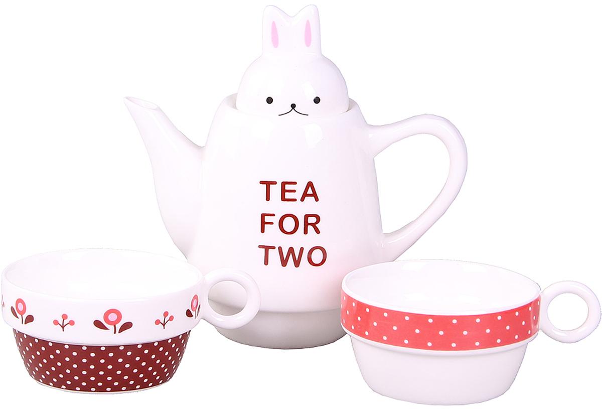 Набор чайный Patricia, 500 мл, 3 предмета. IM99-0545/1VT-1520(SR)Набор выполнен из керамики высокого качества, состоящий из чайника и двух чашек.Такой набор станет прекрасным дополнением любого стола.Объем чайника: 500 мл.