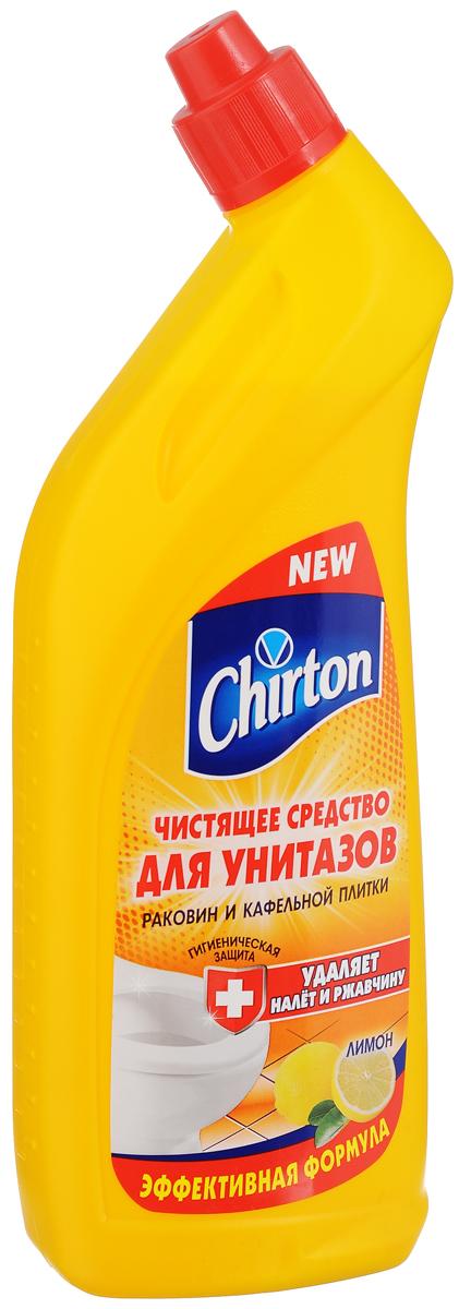 Чистящее средство для унитазов Chirton Лимон, 750 мл4602984004614Chirton Лимон - это эффективная формула для чистки фарфоровых и фаянсовых унитазов, раковин и кафельной плитки от ржавчины, известкового налета и других загрязнений. Обладает густой консистенцией и приятным ароматом. Особая конфигурация флакона позволяет производить обработку в самых труднодоступных местах. Экономичен в употреблении.Товар сертифицирован.