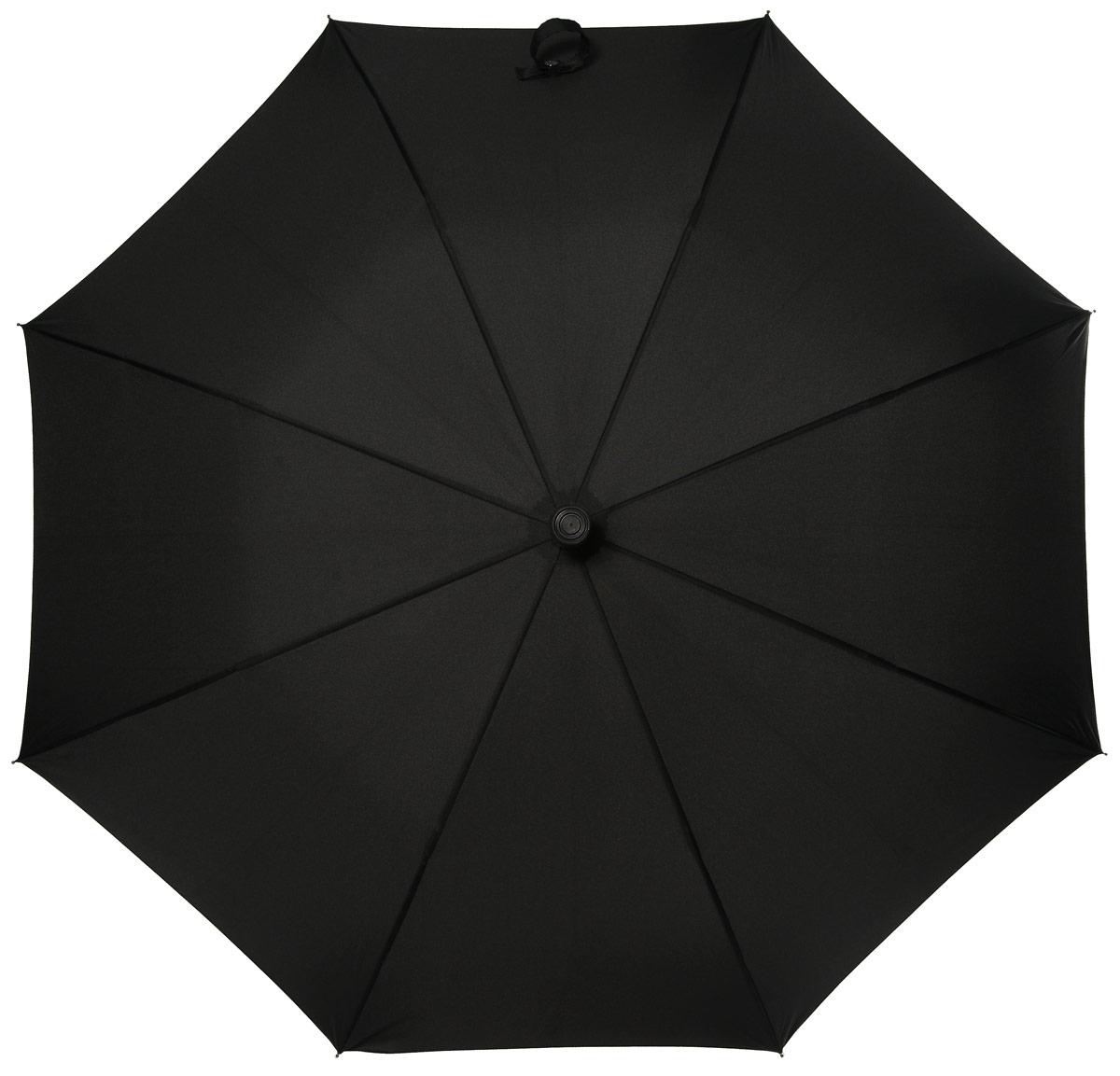 Зонт-трость мужской Fulton, механический, цвет: черный. G827-01Серьги с подвескамиКрепкий механический зонт-трость Fulton даже в ненастную погоду позволит вам оставаться стильным. Верхушка зонта имеет резиновый нескользящий наконечник. Легкий, но в тоже время прочный и ветроустойчивый каркас из фибергласса состоит из восьми спиц с износостойкими соединениями. Купол зонта выполнен из прочного полиэстера с водоотталкивающей пропиткой. Рукоятка закругленной формы, разработанная с учетом требований эргономики, выполнена из пластика.Зонт механического сложения: купол открывается и закрывается вручную до характерного щелчка.