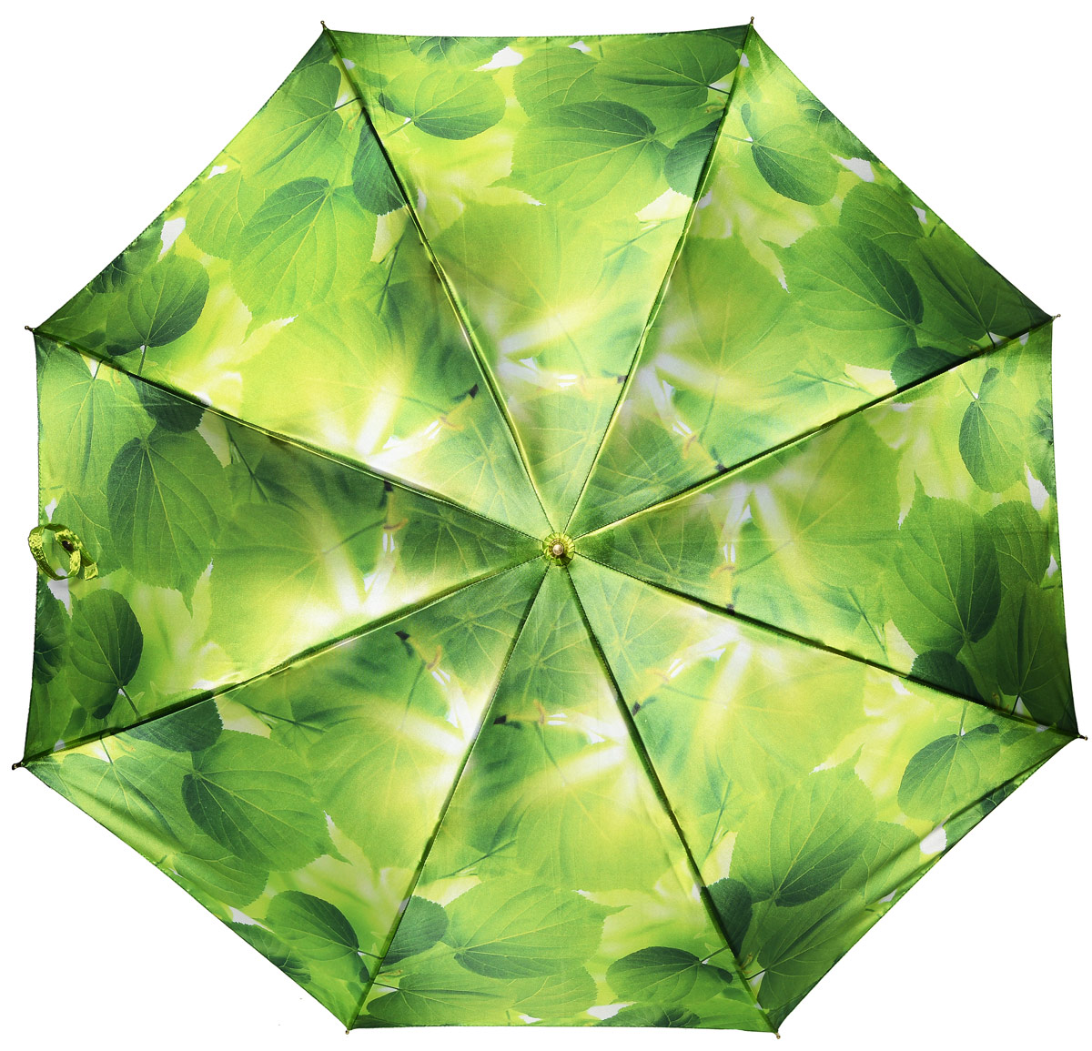 Зонт женский Henry Backer, цвет: зеленый. U11202 Summer leavesREM12-CAM-GREENBLACKЖенский зонт-трость «Летние листья» с сатиновым куполом, зеленый, автоматУдивительно приятный зонт. Ветроустойчивый каркас выполнен из стали и фибергласса.
