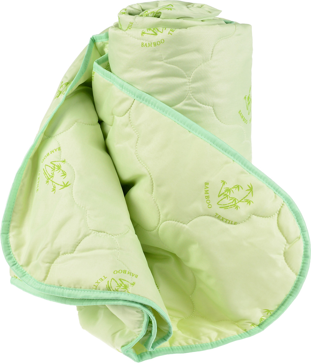 Одеяло Катюша, наполнитель: бамбуковое волокно, 220 х 240 см10503Одеяло Катюша подарит комфорт и уют во время сна. Чехол, выполненный из 100% полиэстера, оформлен фигурной стежкой и надежно удерживает наполнитель внутри. Легкое одеяло, наполненное бамбуковым волокном, сделает спальное место уютным и подарит ощущение свежести в теплую погоду. Также такое одеяло прекрасно подходит для использования в отапливаемых помещениях. Произведенное из бамбука волокно имеет мелкопористую структуру, благодаря чему вещи из этого волокна дышащие, гигроскопичные и легкие. Одеяло не накапливает пыль, легко стирается и быстро сохнет.