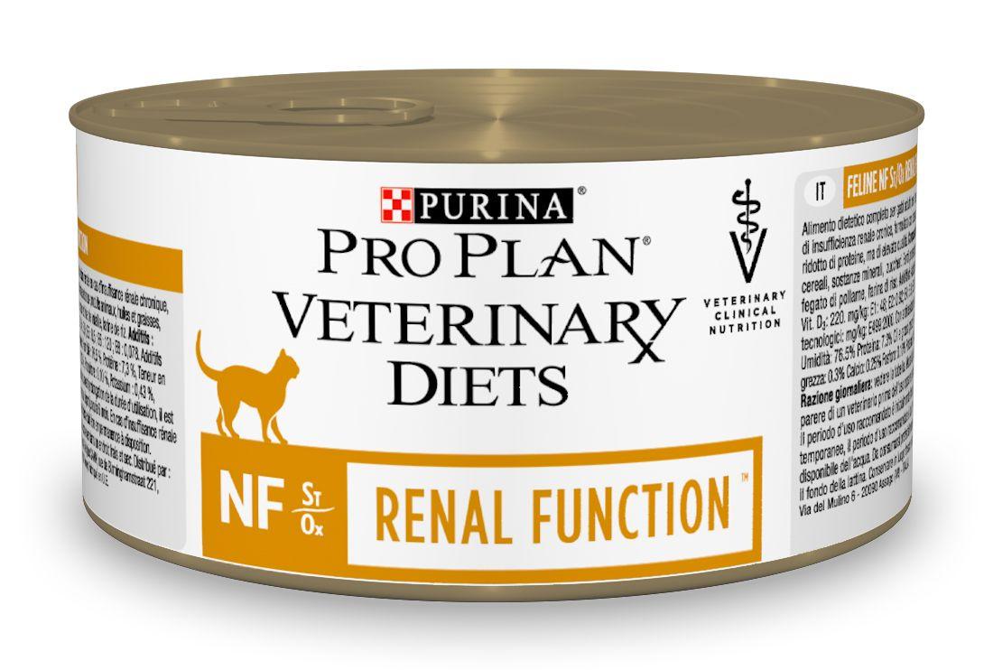 Консервы для кошек Pro Plan Veterinary Diets. NF, при патологии почек, 195 г0120710Purina Pro Plan Veterinary Diets NF Корм консервированный полнорационный диетический для взрослых кошек при патологии почек. Рекомендован для поддержания функции почек при хронической почечной недостаточности, с ограниченным уровнем высококачественного белка и фосфора. Рекомендуемая начальная продолжительность кормления: до 6 месяцев. Перед использованием и увеличением периода кормления сверх рекомендованного проконсультируйтесь с ветеринаром. При временной почечной недостаточности рекомендуемый период кормления - от 2 до 4 недель.Особенности:- ограничение фосфатов в корме помогает поддерживать функции почек в случае хронической почечной недостаточности, способствуют замедлению прогрессирования хронической почечной недостаточности,- ограниченное содержание высококачественного белка помогает минимизировать образование уремических токсинов, - высокие вкусовые качества помогают для поддержания аппетита и долгосрочного употребления,- формула ST/OX для мочевой системы: разработана, чтобы помочь минимизировать риск заболеваний мочевыделительной системы.