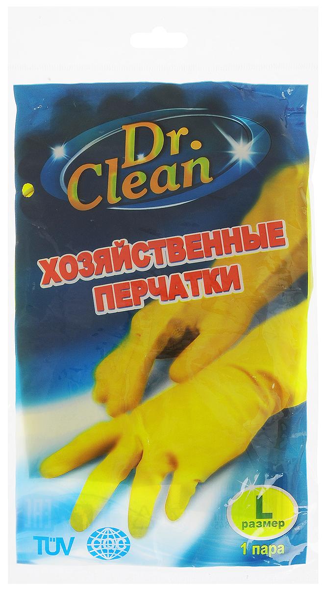 Перчатки хозяйственные Dr. Clean, цвет: желтый. Размер LNN-604-LS-BUУниверсальные перчатки Dr. Clean произведены из высококачественного латекса, бесшовные, с рифленой поверхностью рабочих частей, которая позволяет удерживать мокрые предметы. Перчатки подходят для различных видов домашних работ. Изделия эластичны, хорошо облегают руку.