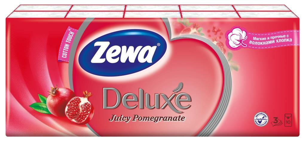 Носовые платки Zewa Deluxe Juicy Pomegranate, 10 х 10 шт28032022Бумажные платочки Zewa COTTON TOUCH® произведены с добавлением натуральных волокон хлопка и одновременно сочетают в себе мягкость и прочность. Они деликатно и нежно заботятся о Вашей коже и дарят незабываемые ощущения прикосновения хлопка. C Zewa COTTON TOUCH® у вас всегда под рукой гигиеничный и надежный помощник! Белые 3-х слойные носовые платки с ароматом граната. По 10 платков в индивидуальной упаковке. В блоке 10 индивидуальных упаковок. Состав: целлюлоза, волокно хлопка. Производство: Россия.