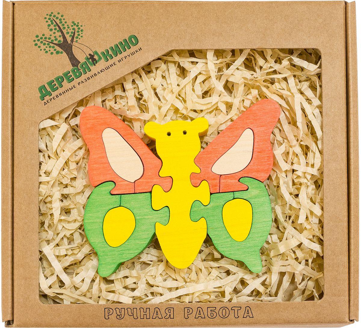 Деревяшкино Пазл для малышей Бабочка нескучный кубик пазл для малышей фрукты
