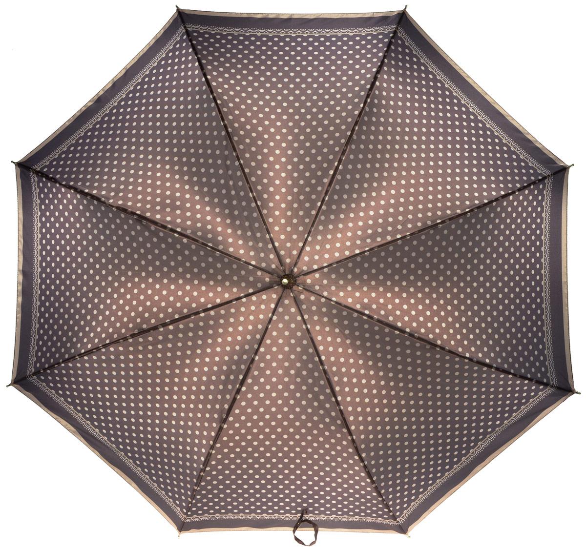 Зонт-трость женский Fabretti, механика, цвет: мультиколор. 1611Серьги с подвескамиЖенский зонт-трость от итальянского бренда Fabretti. Конструкция модели - механика. Эксклюзивный дизайнерский принт зонта сделает вас неотразимыми в любую непогоду. Материал купола - полиэстер. Он невероятно изящен, приятен на ощупь, обладает высокой прочностью, а также устойчив к выцветанию. Эргономичная ручка сделана из высококачественного пластика.