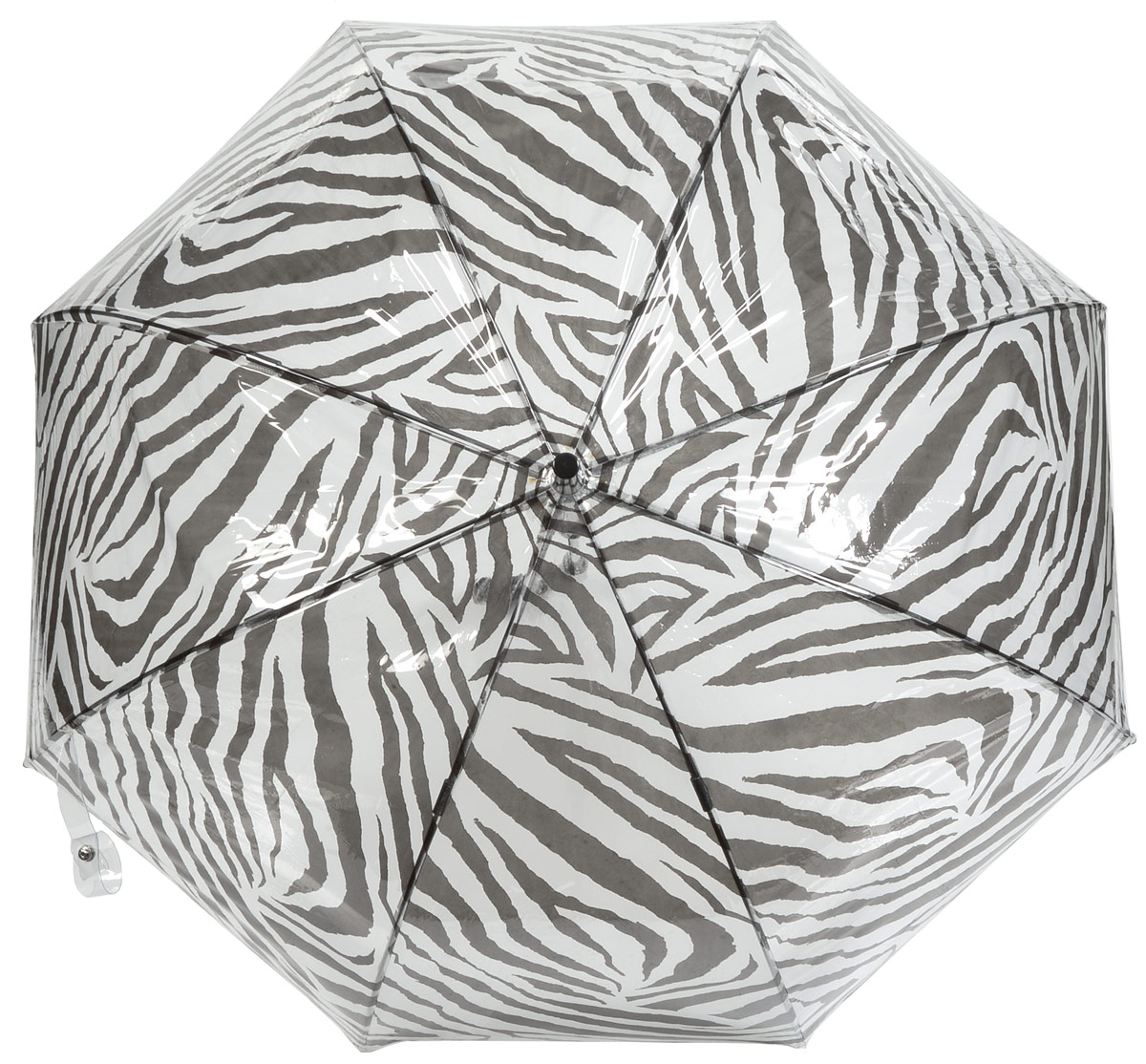 Зонт-трость женский Fulton, механический, цвет: черный, белый. L042-2519CX1516-50-10Стильный зонт-трость Fulton даже в ненастную погоду позволит вам оставаться стильной и элегантной. Каркас зонта включает 8 спиц из фибергласса и состоит из стержня, изготовленного из прочной и ветроустойчивой стали. Купол зонта выполнен из качественного ПВХ.Рукоятка закругленной формы, разработанная с учетом требований эргономики, изготовлена из пластика.Зонт механического сложения: купол открывается и закрывается вручную до характерного щелчка.Такой зонт не только надежно защитит вас от дождя, но и станет стильным аксессуаром, который идеально подчеркнет ваш неповторимый образ.